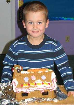 Noah with his house