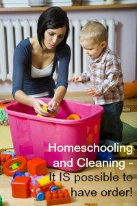 cleaning for homeschooling